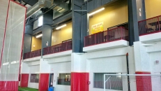 """<h5>Railing Netting</h5><p>The Oasis sports bar purchased this custom made netting to keep anything from falling onto the soccer field below while allowing customers to have a great view.</br></br> These nets are 70% shade cloth with reinforced edge webbing and grommets around the edge for easy installation.</br> Learn more about <a href=""""/netting-products/sport-netting/"""">sport netting</a>.</br>  <a href=""""/portfolio/restaurant-railing-netting/"""">See all the pictures.</a></p>"""