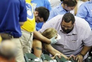 Injured Baseball Fan
